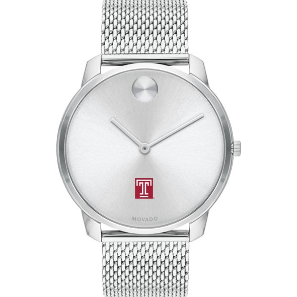 Temple University Men's Movado Stainless Bold 42 - Image 2