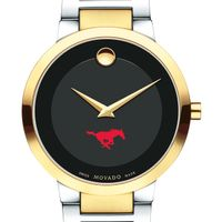 Southern Methodist University Men's Movado Two-Tone Modern Classic Museum with Bracelet