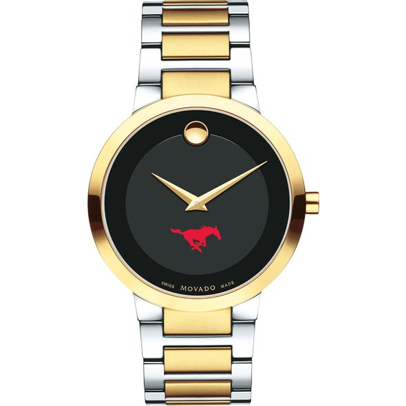 Southern Methodist University Men's Movado Two-Tone Modern Classic Museum with Bracelet - Image 2