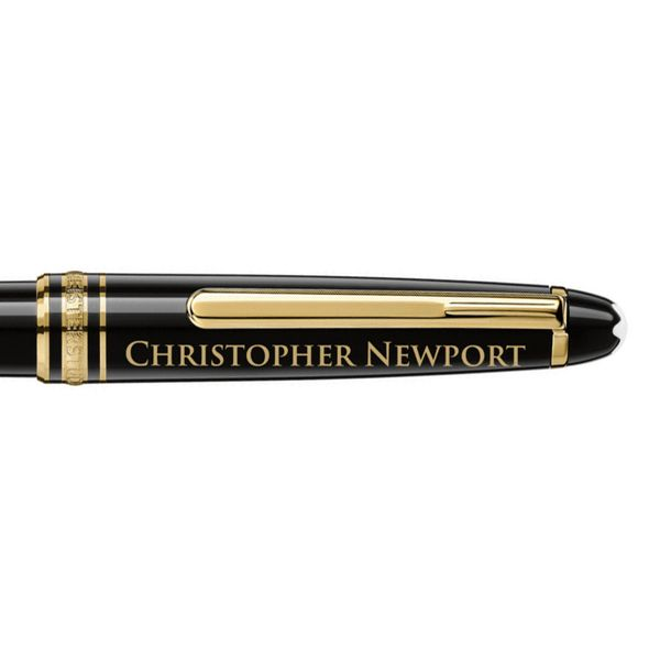 Christopher Newport University Montblanc Meisterstück Classique Ballpoint Pen in Gold - Image 2