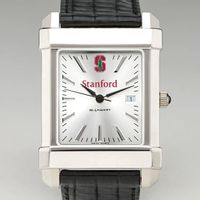 Stanford Men's Collegiate Watch with Leather Strap