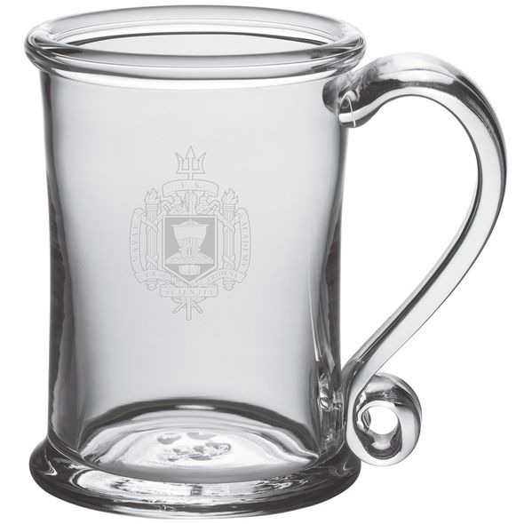 USNA Glass Tankard by Simon Pearce