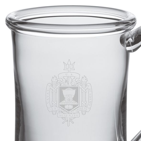 USNA Glass Tankard by Simon Pearce - Image 2