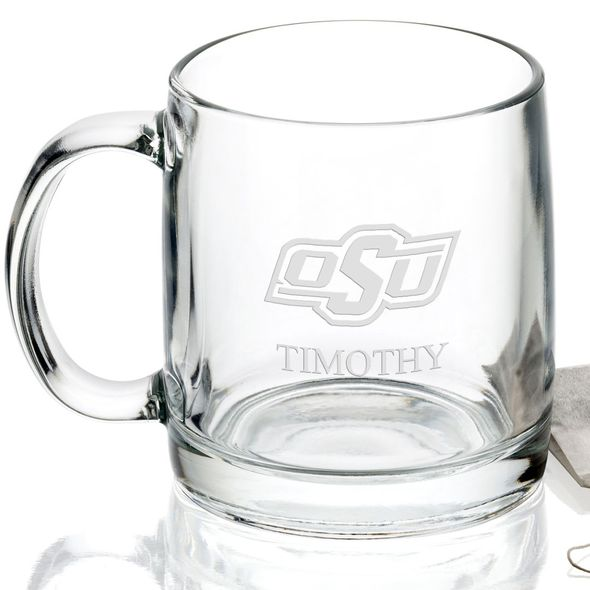 Oklahoma State University 13 oz Glass Coffee Mug - Image 2