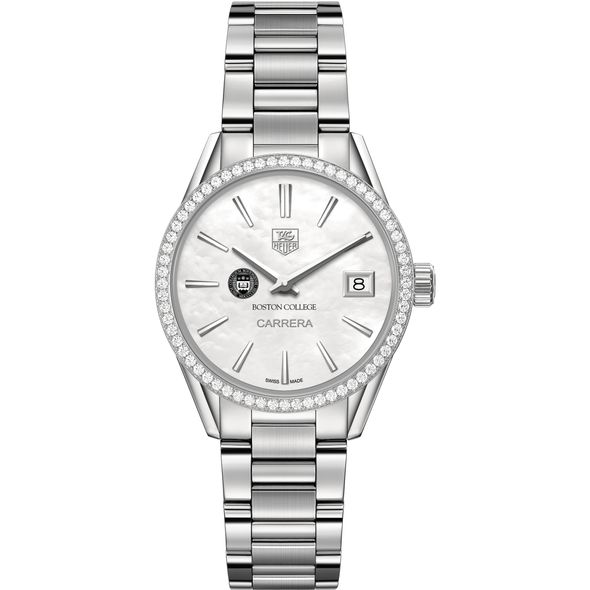 Boston College Women's TAG Heuer Steel Carrera with MOP Dial & Diamond Bezel - Image 2