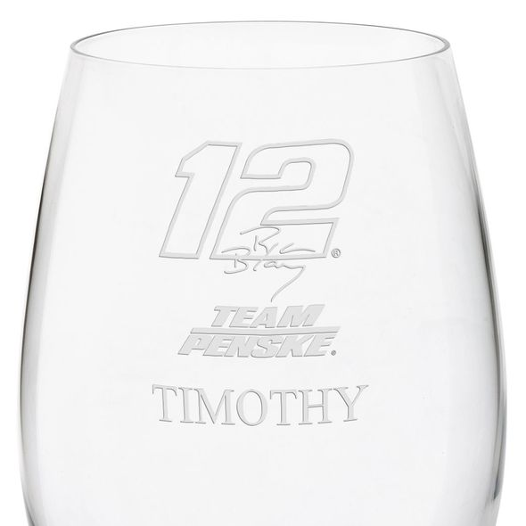 Ryan Blaney Red Wine Glass - Image 3