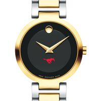 Southern Methodist University Women's Movado Two-Tone Modern Classic Museum with Bracelet