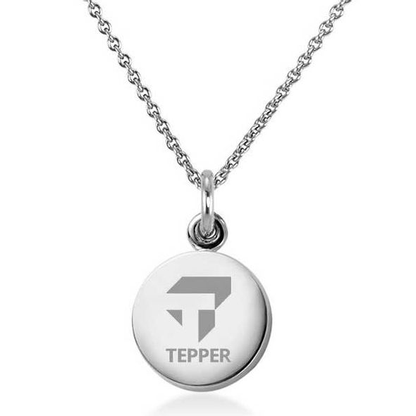 Tepper Necklace with Charm in Sterling Silver