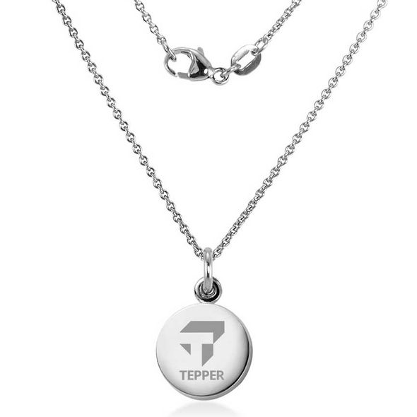 Tepper Necklace with Charm in Sterling Silver - Image 2