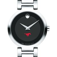 Southern Methodist University Women's Movado Museum with Steel Bracelet