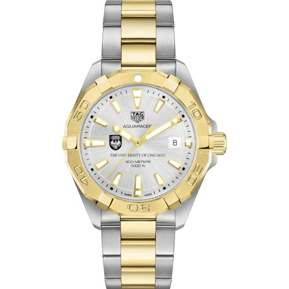 University of Chicago Men's TAG Heuer Two-Tone Aquaracer - Image 2