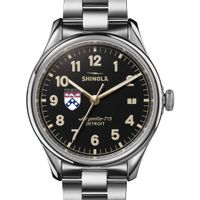 Wharton Shinola Watch, The Vinton 38mm Black Dial