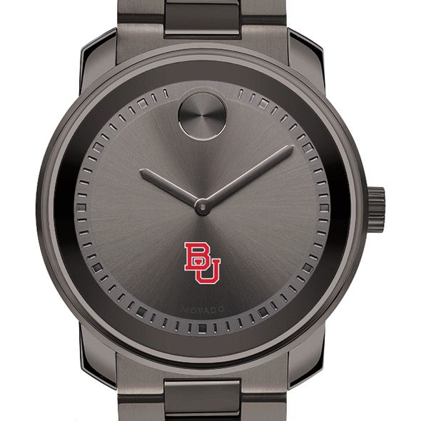 Boston University Men's Movado BOLD Gunmetal Grey