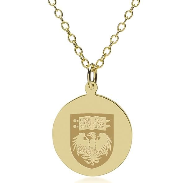 Chicago 18K Gold Pendant & Chain