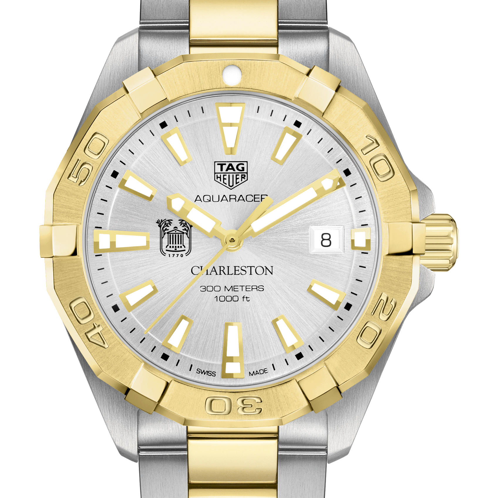 College of Charleston Men's TAG Heuer Two-Tone Aquaracer