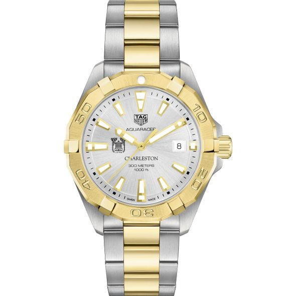 College of Charleston Men's TAG Heuer Two-Tone Aquaracer - Image 2