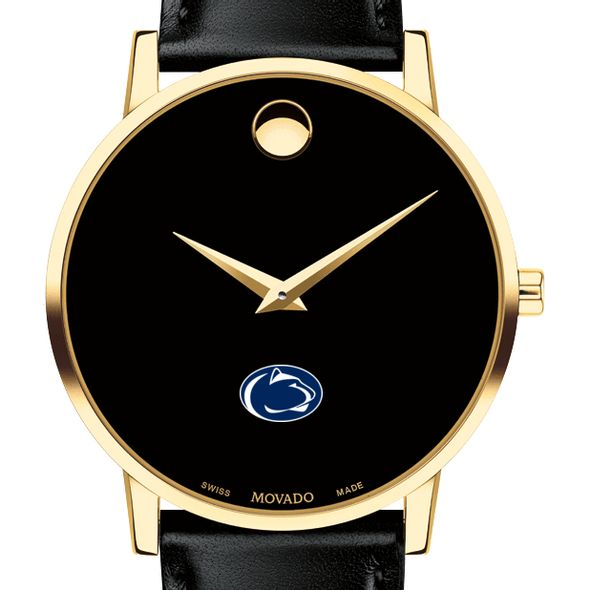 Penn State University Men's Movado Gold Museum Classic Leather