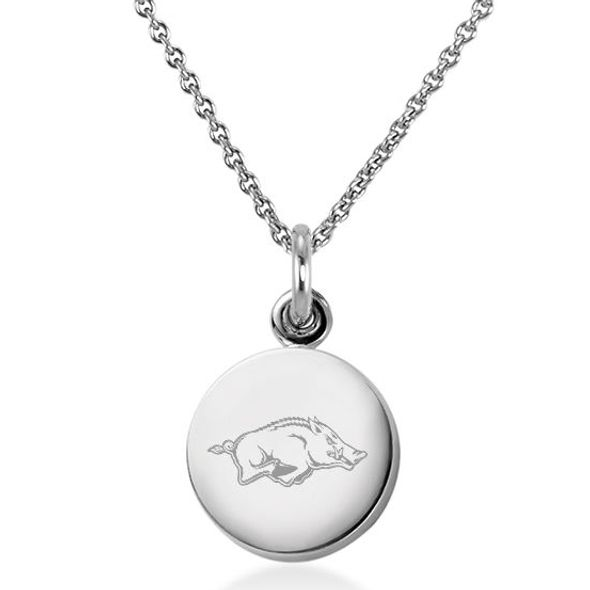 University of Arkansas Necklace with Charm in Sterling Silver