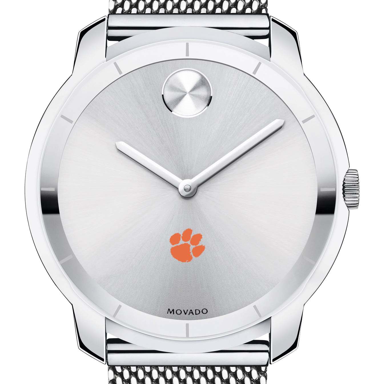 Clemson Men's Movado Stainless Bold 44