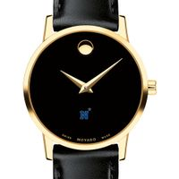 US Naval Academy Women's Movado Gold Museum Classic Leather