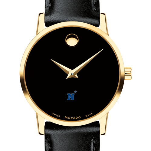 Naval Academy Women's Movado Gold Museum Classic Leather