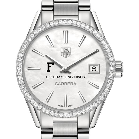Fordham Women's TAG Heuer Steel Carrera with MOP Dial & Diamond Bezel