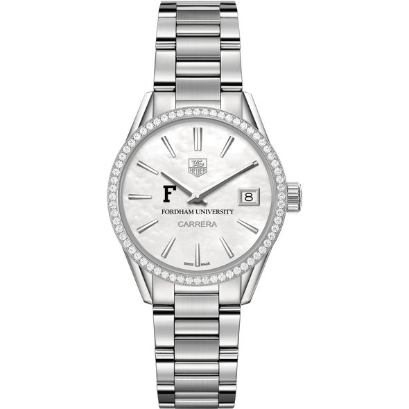 Fordham Women's TAG Heuer Steel Carrera with MOP Dial & Diamond Bezel - Image 2