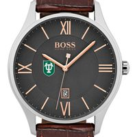 Tulane University Men's BOSS Classic with Leather Strap from M.LaHart