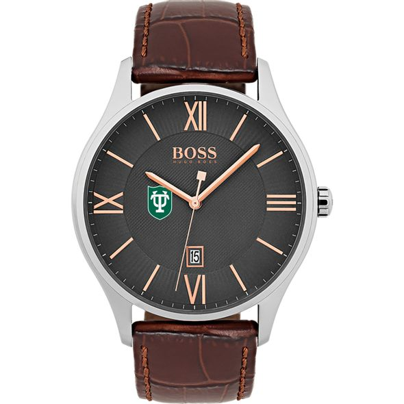 Tulane University Men's BOSS Classic with Leather Strap from M.LaHart - Image 2