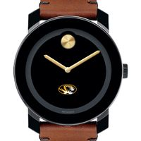 University of Missouri Men's Movado BOLD with Brown Leather Strap