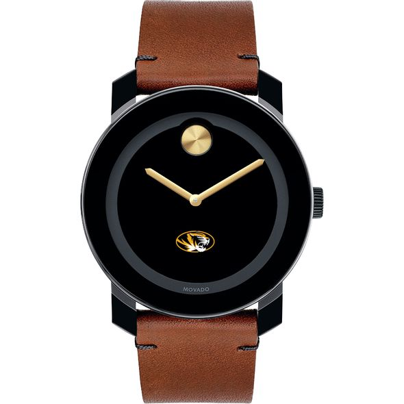 University of Missouri Men's Movado BOLD with Brown Leather Strap - Image 2