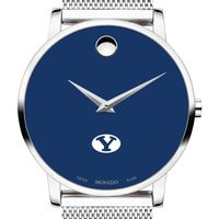 Brigham Young University Men's Movado Museum with Blue Dial & Mesh Bracelet