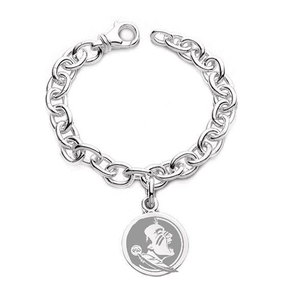 Florida State Sterling Silver Charm Bracelet