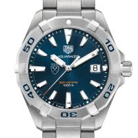 Emory University Men's TAG Heuer Steel Aquaracer with Blue Dial