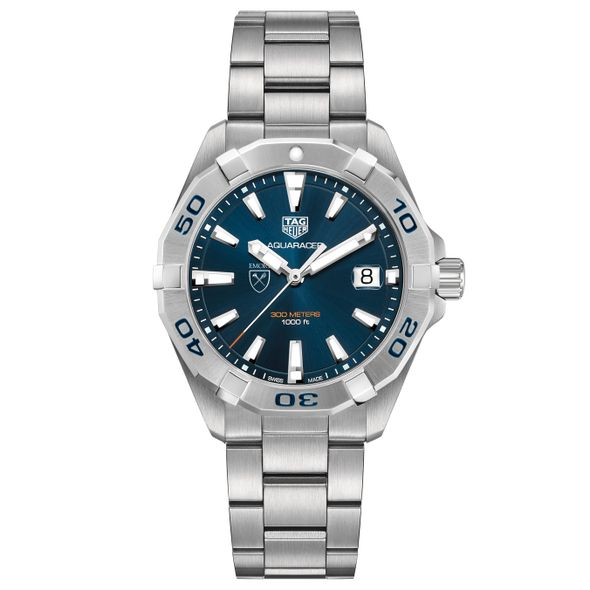 Emory University Men's TAG Heuer Steel Aquaracer with Blue Dial - Image 2