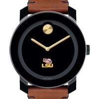 Louisiana State University Men's Movado BOLD with Brown Leather Strap