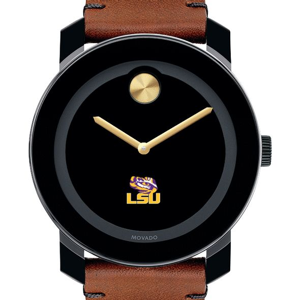 Louisiana State University Men's Movado BOLD with Brown Leather Strap - Image 1
