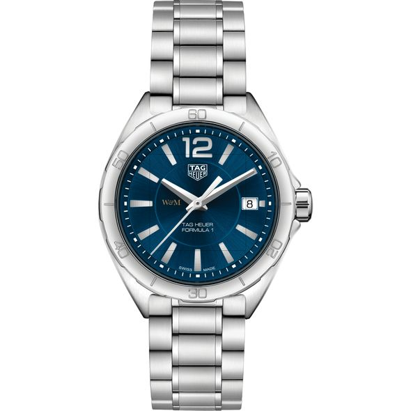 College of William & Mary Women's TAG Heuer Formula 1 with Blue Dial - Image 2