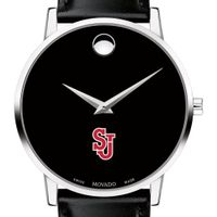 St. John's University Men's Movado Museum with Leather Strap