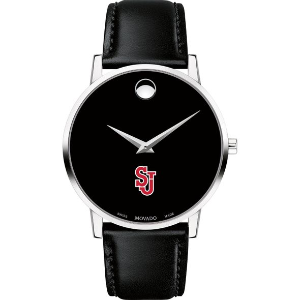 St. John's University Men's Movado Museum with Leather Strap - Image 2