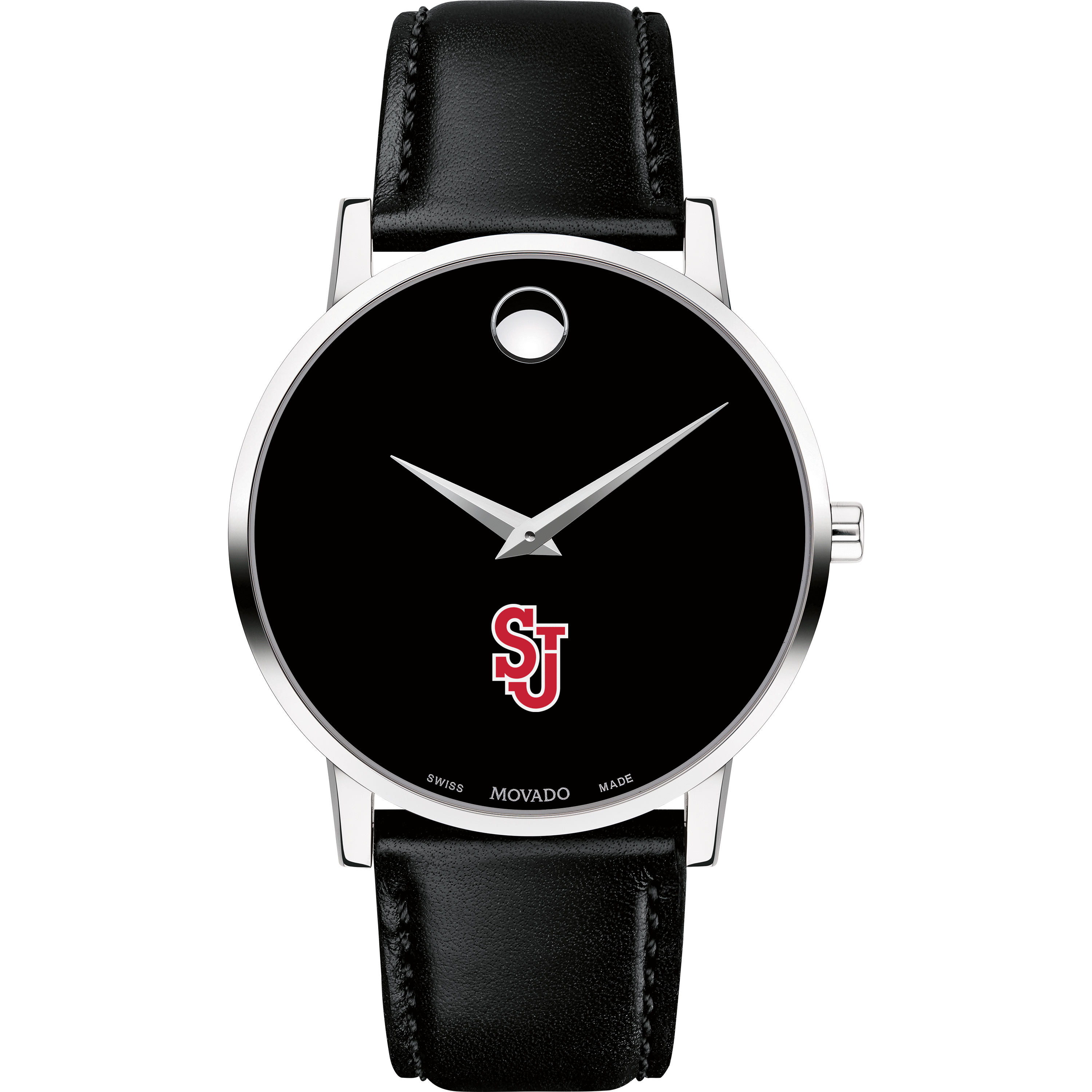 St. John's Men's Movado Museum with Leather Strap - Image 2