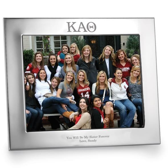 Kappa Alpha Theta Polished Pewter 8x10 Picture Frame - Image 2