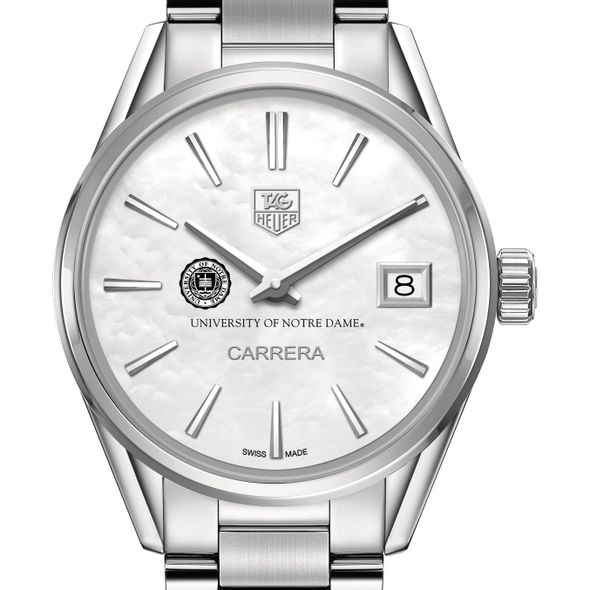 University of Notre Dame Women's TAG Heuer Steel Carrera with MOP Dial
