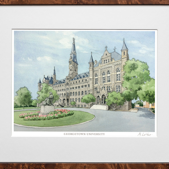Georgetown Campus Print- Limited Edition, Medium - Image 2