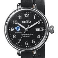 Seton Hall Shinola Watch, The Birdy 38mm Black Dial