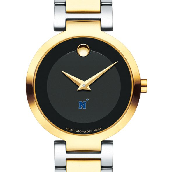 US Naval Academy Women's Movado Two-Tone Modern Classic Museum with Bracelet