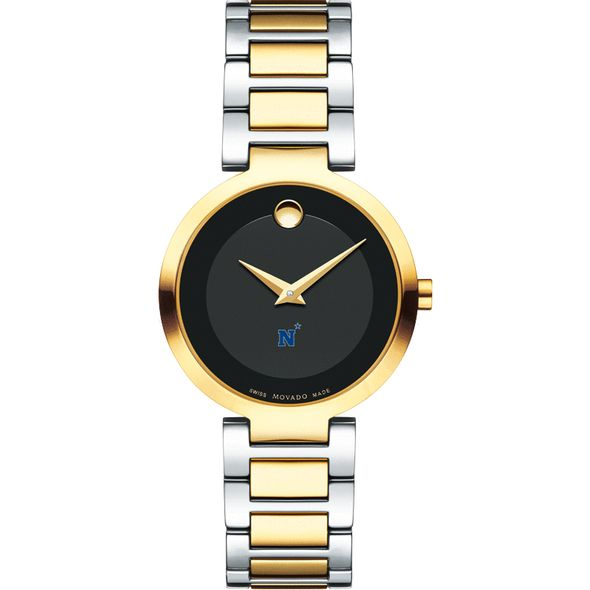 US Naval Academy Women's Movado Two-Tone Modern Classic Museum with Bracelet - Image 2