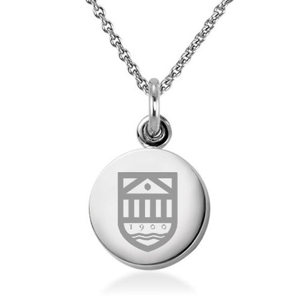 Tuck Necklace with Charm in Sterling Silver