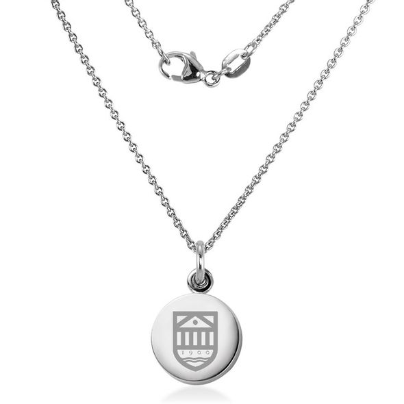 Tuck Necklace with Charm in Sterling Silver - Image 2