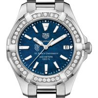 St. John's Women's TAG Heuer 35mm Steel Aquaracer with Blue Dial